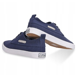 Fabric Sneakers Casual Y011 Blue 3