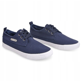 Fabric Sneakers Casual Y011 Blue 4