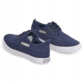 Fabric Sneakers Casual Y011 Blue 7