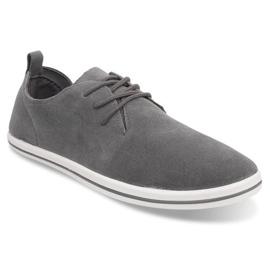Lightweight Men's Sneakers With Eco Suede 1205 Gray grey 1