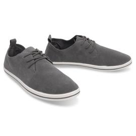 Lightweight Men's Sneakers With Eco Suede 1205 Gray grey 2