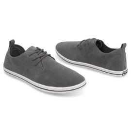 Lightweight Men's Sneakers With Eco Suede 1205 Gray grey 3