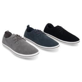 Lightweight Men's Sneakers With Eco Suede 1205 Gray grey 4