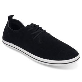 Lightweight Men's Sneakers With Eco Suede 1205 Black 1