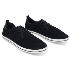 Lightweight Men's Sneakers With Eco Suede 1205 Black 2