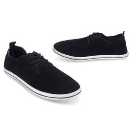 Lightweight Men's Sneakers With Eco Suede 1205 Black 3