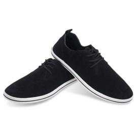 Lightweight Men's Sneakers With Eco Suede 1205 Black 4