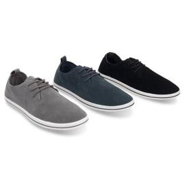 Lightweight Men's Sneakers With Eco Suede 1205 Black 5