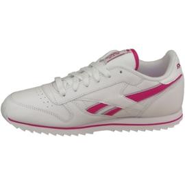 Reebok Cl Lthr Ripple Iii Jr V59227 shoes white 1