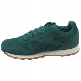 Reebok Cl Leather Sg JRCM9079 shoes green 1