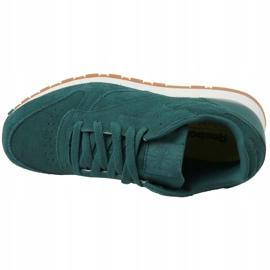Reebok Cl Leather Sg JRCM9079 shoes green 2