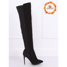 Black Thigh-high boots black 0H010 Black 1
