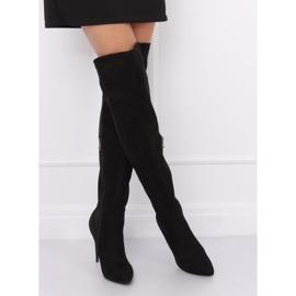 Black Thigh-high boots black 0H010 Black 2