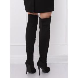 Black Thigh-high boots black 0H010 Black 3