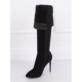 Black Thigh-high boots black 0H010 Black 4