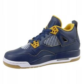 Nike Jordan Jordan 4 Retro Bg Jr 408452-425 shoes navy 1