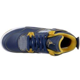 Nike Jordan Jordan 4 Retro Bg Jr 408452-425 shoes navy 2