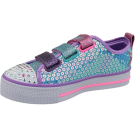Skechers Twinkle Lite Jr 20062L-TQMT shoes blue multicolored 1
