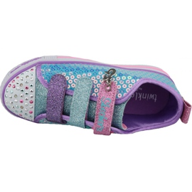 Skechers Twinkle Lite Jr 20062L-TQMT shoes blue multicolored 2
