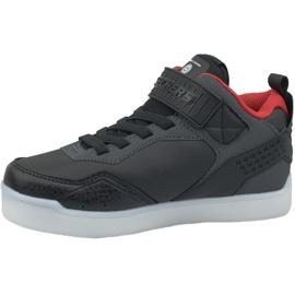 Skechers Energy Lights Jr 90613L-BKRD shoes black 1