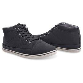 Fashionable High Sneakers 1173 Black 1