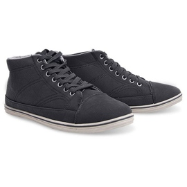Fashionable High Sneakers 1173 Black 2