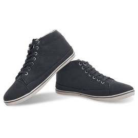 Fashionable High Sneakers 1173 Black 3