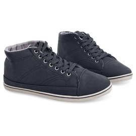 Fashionable High Sneakers 1173 Black 4