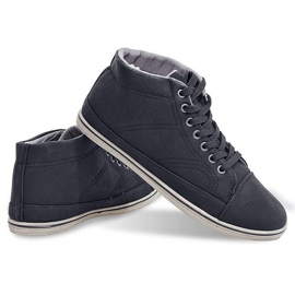 Fashionable High Sneakers 1173 Black 5