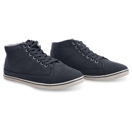 Fashionable High Sneakers 1173 Black 6