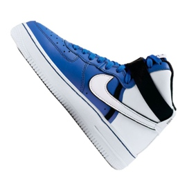 Nike Air Force 1 High LV8 2 Jr CI2164-400 shoes white-blue 1