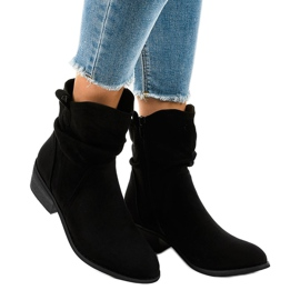 Black suede boots with a 3893 zip 1