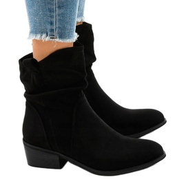 Black suede boots with a 3893 zip 2