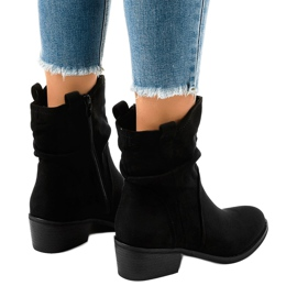 Black suede boots with a 3893 zip 3
