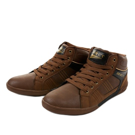 Brown men's lace-up sneakers 15M749 2
