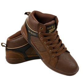 Brown men's lace-up sneakers 15M749 3