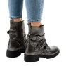 Grey Gray women's boots with HQ1588 buckles picture 3