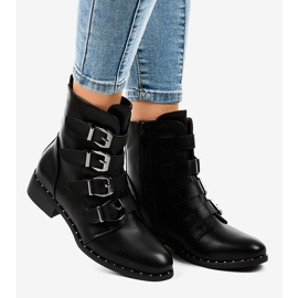 Black women's boots with S120 buckles 1