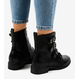 Black women's boots with S120 buckles 2