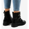 Black women's boots with S120 buckles picture 2