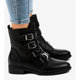 Black women's boots with S120 buckles 3