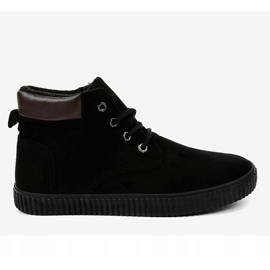 Black insulated men's sneakers AN06 2