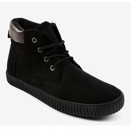 Black insulated men's sneakers AN06 1