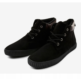 Black insulated men's sneakers AN06 4