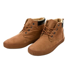 Brown insulated men's sneakers AN06 3