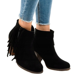 Black suede boho boots on a post FY8333 1