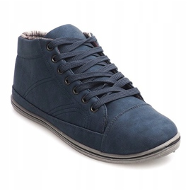 Fashionable High Sneakers TL364 Navy 1