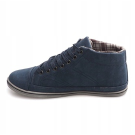 Fashionable High Sneakers TL364 Navy 2