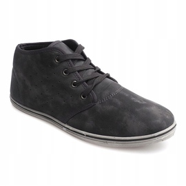 Fashionable High Sneakers TL354 Gray grey 1