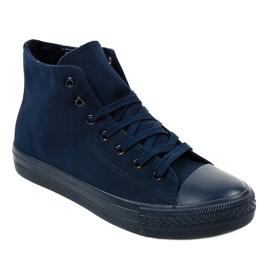 Dark blue men's high sneakers XN50 navy 1